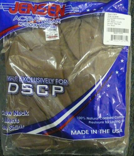 JENSEN US ARMY BROWN T-SHIRT CREW NECK COTTON SHORT SLEEVE TSHIRT PACK OF 3 XSM