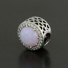 Authentic Pandora Charm Radiant Hearts, Opalescent Pink Crystal No.791725NOP