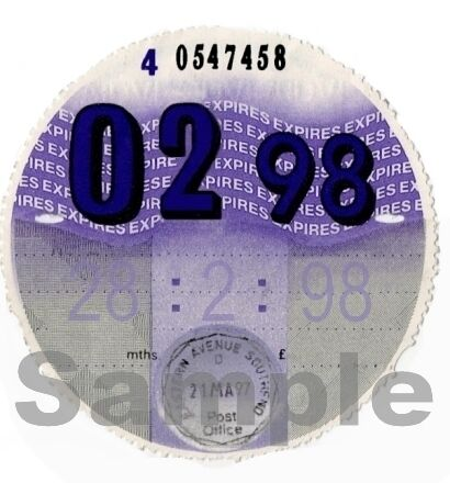PERSONALISED Classic car Vauxhall MGB Ford  Austin Triumph 1998 TAX DISC