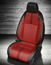 2016 2019 Honda Civic Sedan Exex T Katzkin Red Crimson Leather Seat Covers Kit