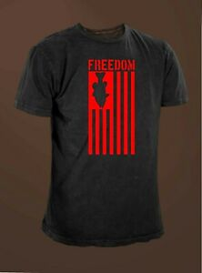 360030112 Image is loading Freedom-American-Flag-Bass-Fishing-T-shirt