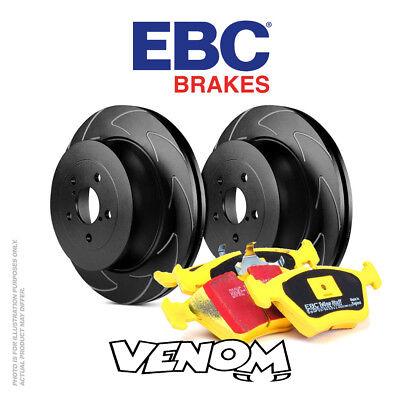100% Vero Ebc Kit Dischi Freno Anteriore & Pastiglie Per Volvo C70 2.4 Td 2006-2013-