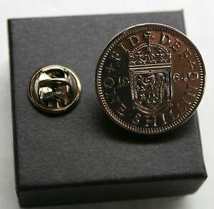 SHILLING-TIE-PIN-SPILLA-BADGE-COMPLEANNO-MEDAGLIA-scelta-della-data-1947-1966-BOXED