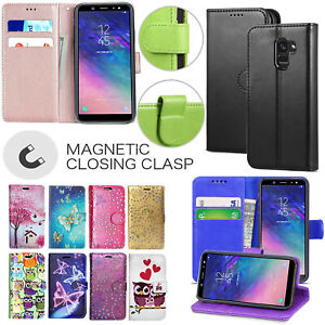 online retailer 3e782 e47ca Details about For Samsung Galaxy A6 / A6+ 2018 Genuine Black Leather Wallet  Phone Cover Case
