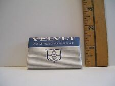 VINTAGE HOTEL ADVERTISING BAR OF VELVET COMPLEXION GUEST SOAP