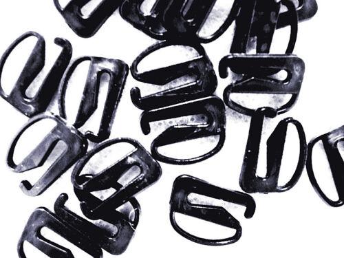 40 Black 6-9 mm Bra Strap Adjustment S Hooks Fig 9 Detachable Lingerie//Underwear