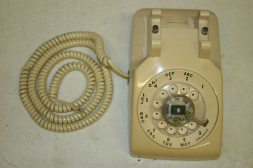 VTG Mt. Bell Rotory Dail Tan Desk Telephone Model 500 BM no receiver