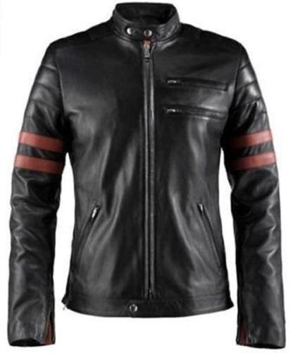 Fight Club Retro Hybrid Mayhem Brad Pitt Black Biker Jacket