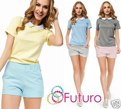 Ladies Casual Chino Shorts With Pockets Short Pants Cargos Sizes 8 10 FA415