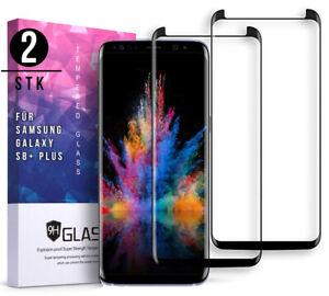2x-3D-Panzerfolie-fuer-Samsung-Galaxy-S8-Plus-Schutzglas-Full-Screen-Hart-Glas