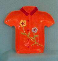 Hawaiian Shirt Serving Plate In Orange - - Great For Display