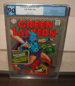 "1966 DC ""GREEN LANTERN"" #45   PGX GRADED 9.0 VF/NM WHITE PAGES"