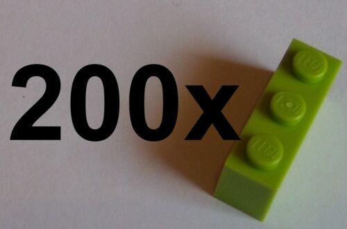 Lego 200x Stein 1x3 lime 3622 Basicsteine  Neu limette bricks grün