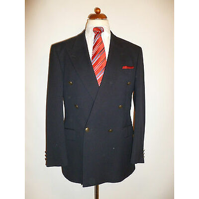 MENS PURE WOOL NAVY BLAZER - BY M&S - SIZE 40