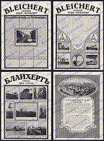 Reklame Adolf Bleichert Leipzig Drahtseilbahn Maschinenbau Holz Oberaudorf 1916