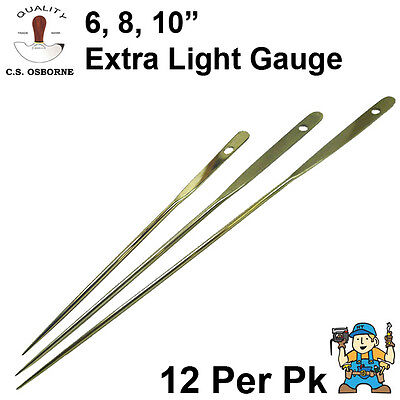 """Curved Cord Light  2.5/"""" Round Point Upholstery Needles 12pack Osborne No.513"""