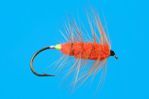 size 6 bronze hook Orange Bug 6 pcs