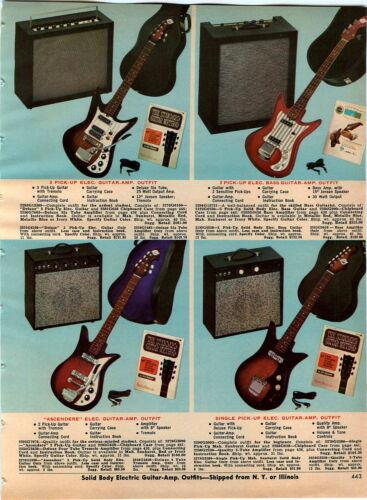 1967 ADVERT 4 PG Electric Guitar Guitars Eliter Royal Capri Amp Amps
