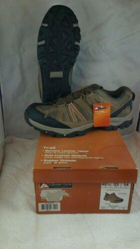 Ozark Trail Chaussures Hommes randonneurs Neuf Avec Étiquettes Taille 14 en cuir souple Low Top Marron Noir
