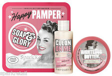 Soap and Glory HAPPY PAMPER Gift Box: Clean on Me 75ml/The Righteous Butter 50ml