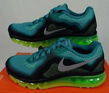 """New Womens 7 NIKE """"Air Max 2014"""" Teal Flash Lime Running Shoes $180 621078-302"""