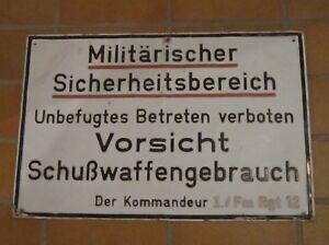 Orig-Schild-034-Militaerischer-Sicherheitsbereich-034-I-Fm-Rgt-12-Karlsruhe-Neureut