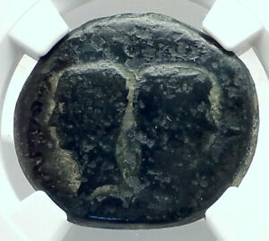 OCTAVIAN-Augustus-amp-JULIUS-CAESAR-Vienna-Gaul-Ancient-Roman-Coin-NGC-Rare-i78897