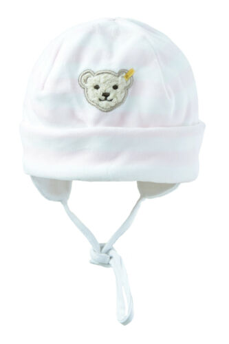 Steiff ® CASQUETTE BANDEAU BONNET Nicky rose ours Taille 39 41 43 45 47 H//W basic neuf!
