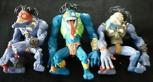 Lot-of-3-Evil-Monsters-Large-Insaniac-Figurines-7-Inches-High-Hasbro-1998