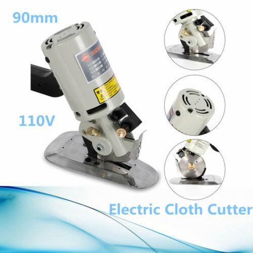 """90mm Cloth Cutter Fabric Cutter Machine 3.5/"""" Shear Round Scissors 200W 110V"""