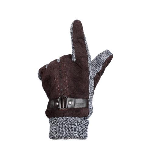 Unisex Insulated Gloves Knit Winter Gloves Thermal Insulation Men Women Warm