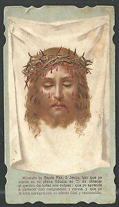 Estampa antigua de la Santa Faz de Jesus andachtsbild santino holy ...