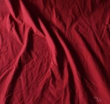 Antique French 19thc Turkey Red Cotton Fabric Material~Dolls,Quilters