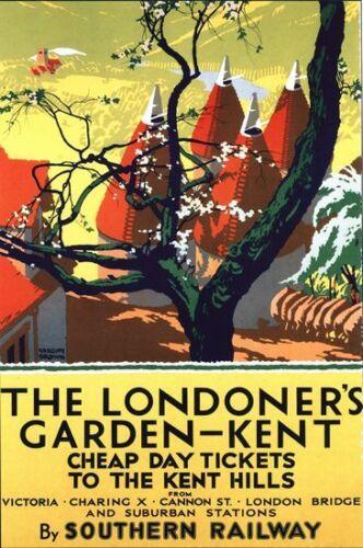 Vintage Southern Rail Kent Railway Poster A3//A2//A1 Print