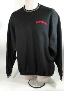 Mens-Station-Casinos-Black-Crew-Neck-Pullover-Sweatshirt-Large