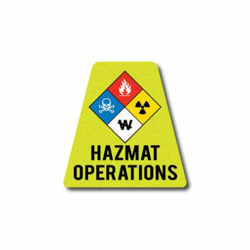 HAZ MAT Operations Tet 3M Reflective Fire Helmet Single Tetrahedrons