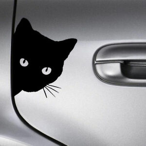Funny-Black-Cat-Face-Peering-Car-Decal-Window-Truck-Auto-Bumper-Laptop-Sticker-T