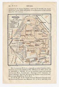 Novara Italy Map.1913 Original Antique City Map Of Novara Piedmont Italy Ebay