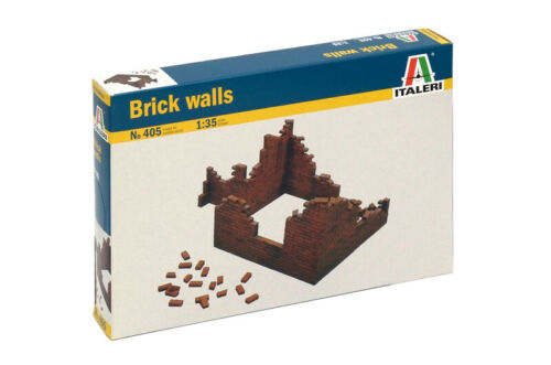 Italeri 405 1//35 Scale Military Model Accessories Kit WWII Brick Walls IT-0405S