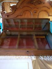 Vintage Ec Simmons Keen Kutter Wood And Glass Display Case
