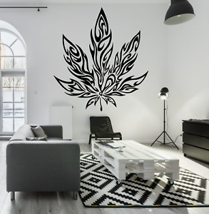 "Marijuana Pot Feuille Tribal Tattoo Large Wall Decal Mural Art Autocollant 24/"" Dope"