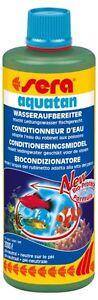 Sera-Aquatan-500-ml-Wasseraufbereiter-50-ml-florena-Pflanzenduenger