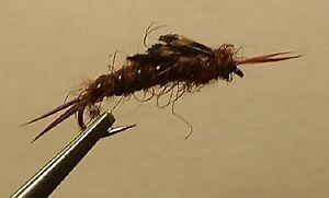 1 dozen Black Kauffman Stonefly Nymph Trout Wet Fly
