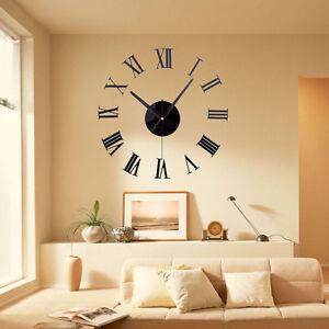 Retro New Designer Vintage Numbers 3D Large Wall Clock 50cm Metal