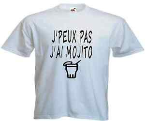 T-shirt HOMME J/'PEUX PAS J/'AI MOJITO