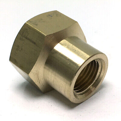 """Full Brass G1//2/"""" Female x G3//8/"""" Female Thread Adapter Connector Pipe Fitting"""