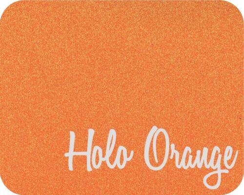 "Stahls/' Glitter Flake HTV Heat Transfer Vinyl Holo Orange 20/"" x 5 Yards"