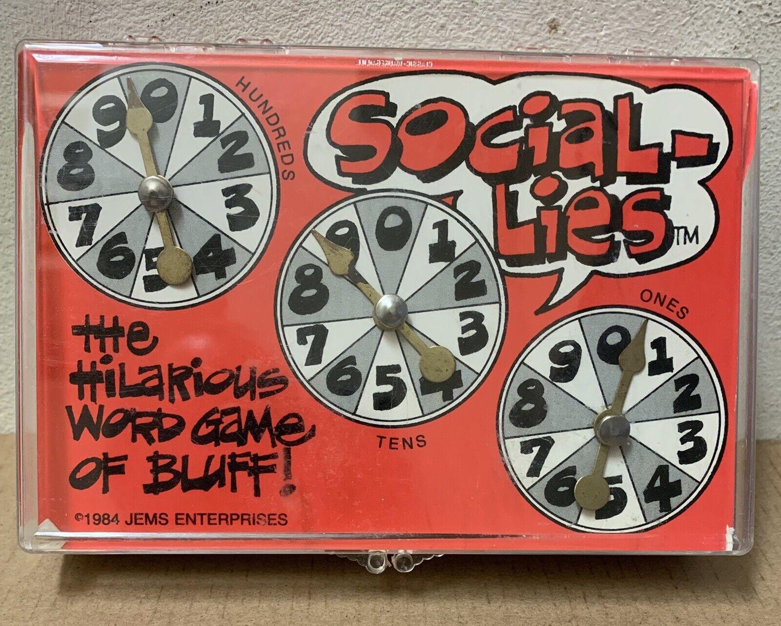 Rara mentiras social juego de palabras 1984 Jems empresas década de 1980 un farol Fiesta Juguete