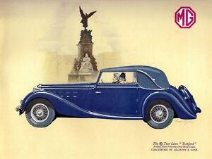 MG Auto, Stile Retrò Vintage Metallo Segno Di Placca, novità regalo, Garage  </span>