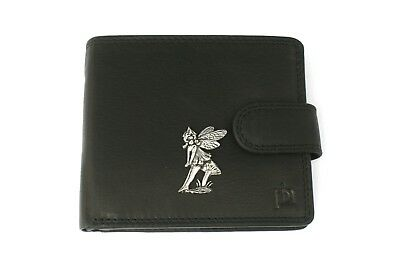 Frank Sitting Fairy Mens Leather Wallet Black Or Brown Fairy Gift 122 Das Ganze System StäRken Und StäRken